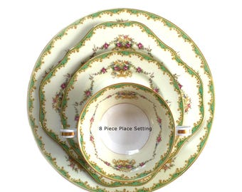 Noritake Greenbrier Pattern 4024 & 4730 Eight 8 Piece Service - 10 Available - 1930s Bridal Engagement Wedding