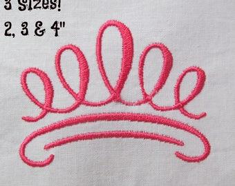 "Buy 1 Get 1 Free! Princess Crown Embroidery Design Crown Design Tiara Embroidery Design Mini Crown Small Crown Mini Tiara 3 Sizes 2, 3 & 4""!"