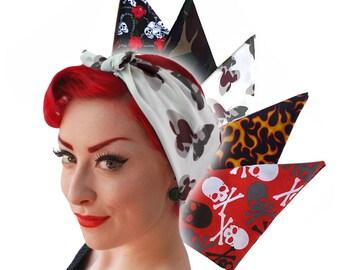 Rockabilly Bandana - alternative print bandana - Camouflage Bandana - Hot Rod Flames Bandana - Butterflies Bandana - Retro necktie