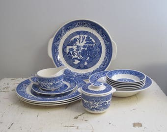 Willow Ware by Royal China 13 Pieces