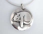 Sleepy Cat Locket  - *Made to Order for Helen*