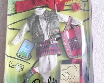 Barbie, Barbie Millicent Roberts, Goin' To The Game, Barbie Tartan Kilt, Barbie Quilted Vest, Barbie Fisherman Sweater, NRFB
