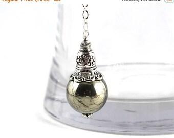 LATE SHIP SALE Pyrite Pendulum, Pendulum, Gemstone Pendulum, Dowsing Pendulum, Metaphysical, Intuition, Divination, Magic, Wicca, Yoga Jewel