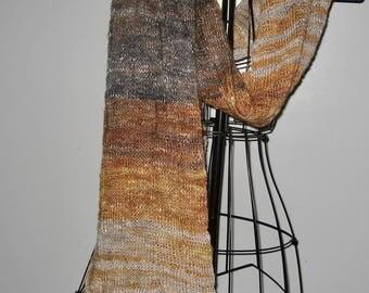 Heavy Metal tones in a soft wool scarf