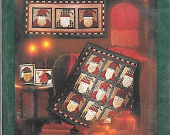 Sew Many Santas Wall Quilt and Card Keeper Pattern