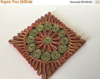 Sale Vintage Wicker Hot Pad, Trivet, Counter Mat