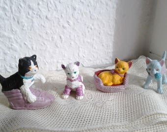 Vintage Kitty in My Pocket Set - Claire, Oliver, Claudia, Cleopatra - Love N Sparkle Set -1995 - Puppy in my pocket, Pony in my Pocket