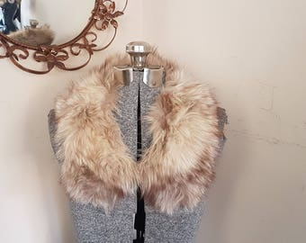 Vintage White Fox Fur Collar Classy Retro Fur Stole Fur Collar Fox Fur Vintage Fur