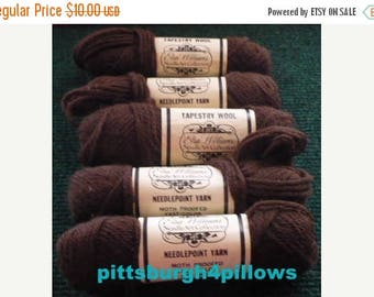 CHRISTMAS IN JULY New Listing - 5 - Elsa Williams - Tapestry Wool - 4 ply - 100% Wool - 40 Yards - 771 - 3 Ozs Total - Price Is For All