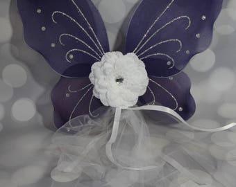 Dark Blue Butterfly Wings, Girls Fairy Wings, Butterfly Wings, Children's Pixie Wings, Navy Play Wings, Dress Up Wings, FW1761