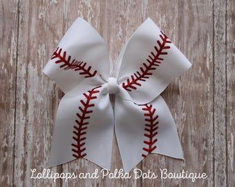 Baseball Cheer Bow