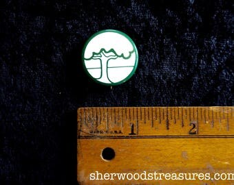 Ecological  Seventies  ECOLOGY Tree Pinback Button