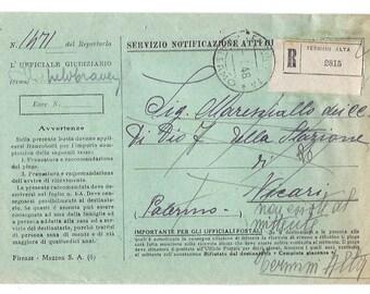 1948 Vintage handwritten envelope from Italy - Italian ephemera