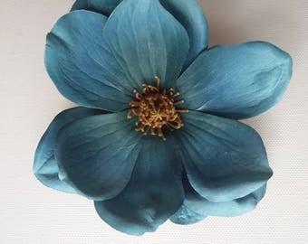 Teal Magnolia - fascinator/hair accessory/hat trim/races/bridal/trim
