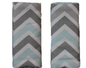 Chevron  Strap covers, padded strap covers, car seat strap covers- Ships today