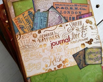 Journal Art Journal Keepsake Unlined Pages