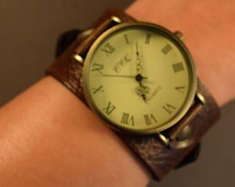 Brown Watch-Watches for Men-Cuff Watch-Friendship Gifts-Gift for Him-Husband Gift-Boyfriend Gift-Birthday Gift-Groomsmen Gift-Handmade Watch