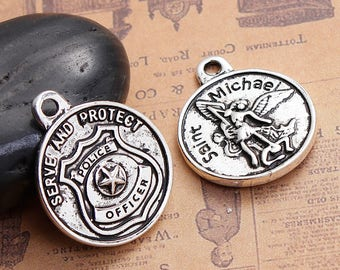 St Michael Protect Us Policeman S Prayer Challenge Coin Pc