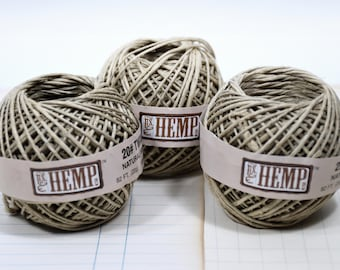 Hemp Twine (3) * natural * 82 ft mini ball * string * twine * packaging supplies