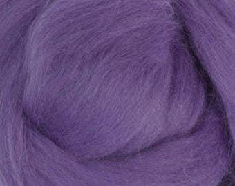 Superfine Merino Wool Top - 19 micron - Violet - 4 ounces