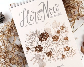 20% OFF - Calendar 2018 - Here and Now