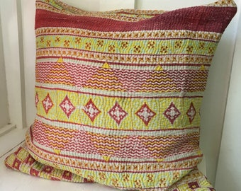 Vintage Kantha Boho Cottage Pillow Cover 9