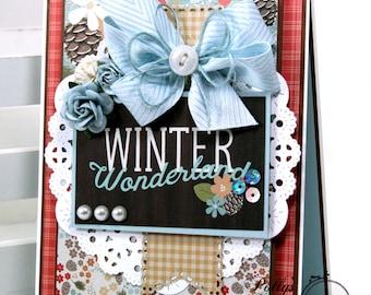 Winter Wonderland Christmas Greeting Card Polly's Paper Studio Handmade