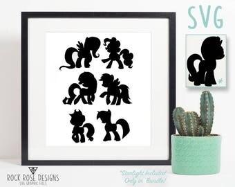 My Little Pony Mane Six - SVG CUT FILES + Starlight Glimmer Bonus
