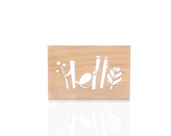Hello! // Real Wood Card