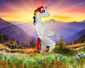 Magical Rainbow Unicorn Adult Halloween or Festival Costume