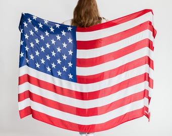The American Flag Sarong // Beach Boho Pareo, Wrap, Blanket, Wall Hanging, Tapestry, Scarf, Towel