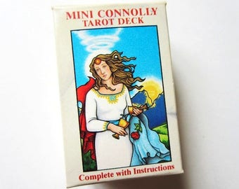 Mini Connolly Tarot Deck Cards with Instructions, Vintage 1989