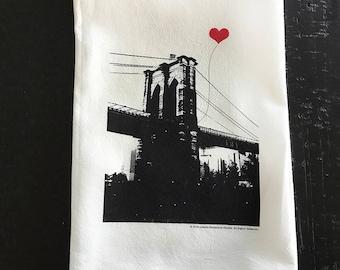 Brooklyn Bridge New York City Tea Towel