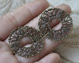 10 pcs Antique Brass flower Filigree Jewelry Connectors Setting,Connector Findings,Filigree Findings,Flower Filigree