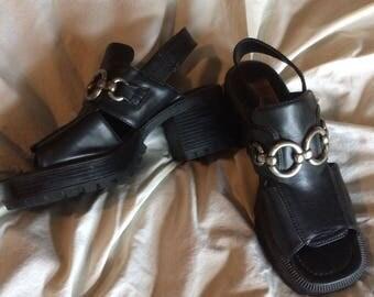 Lug Sole Slingback Sandals