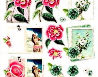 110 - 1 leaf studio light images romance die cut flowers