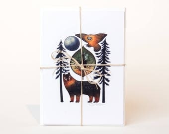 Fall Greeting Cards - assorted set of 3