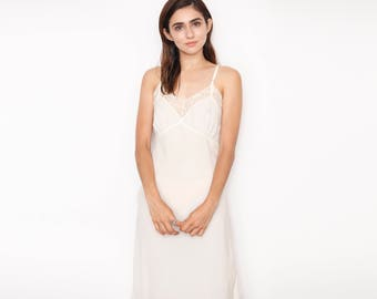 Silky Cream Slip Dress