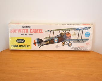 Vintage Guillow's Sopwith Camel World War I Fighter Model NOS