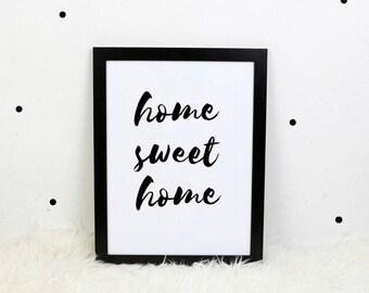 Digital Print: Home Sweet Home
