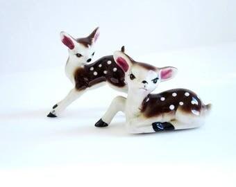 Deer Figurine, Vintage Reindeer, Vintage Ceramic Deer, Bambi Figurine, Rustic Woodland Decor, Holiday Decoration, Gift Ideas, Co Worker Gift
