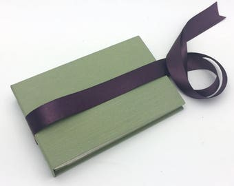 Bright Sage Mini Photo Album with Ribbon - in stock for 4x6 photos