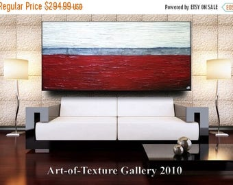 SALE 60 x 30 Huge Custom Original Modern Metallics Heavy Texture Red Silver Black Carved Painting Abstract Oil by Je Hlobik