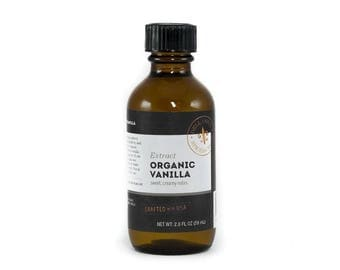 Organic Vanilla Extract Featuring Bourbon Vanilla Beans Extract Grade 2 fl oz Bottle