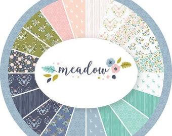 SALE 10% Off - Fat Quarter Bundle  - MEADOW  - Camelot Cotton Fabrics - 18 Fat Quarters
