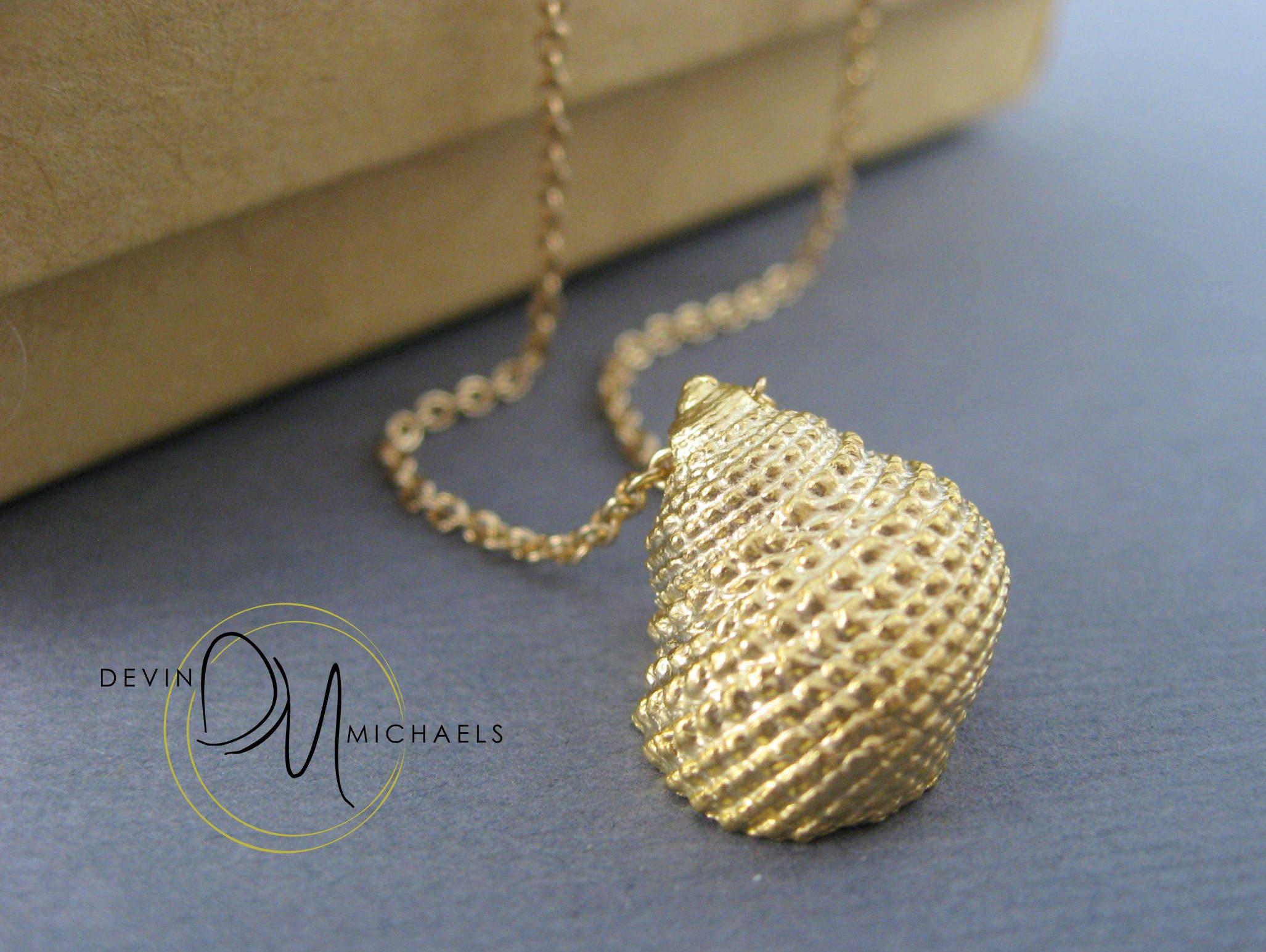 Gold Seashell Necklace Sea Shell Conch Necklace Beach Jewelry