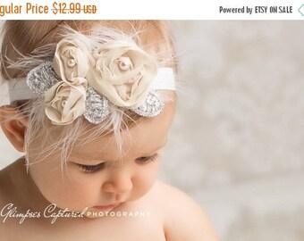 12% off Newborn headbands Baby headband Adult headband Child headband Baby hairbow Photo prop Preemie headband Teen headband flower headband