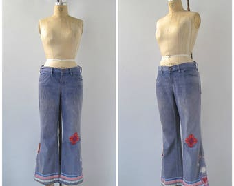 Vintage 70s Customized Levi's for Gals Jeans | Levi's for Gals | Big E | Customized Jeans | Arts and Crafts, Hippie, Boho | Waist 31.5