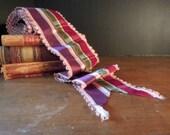 Vintage Antique French Ribbon / Edwardian French Ribbon / Velvet and Satin Ribbon / 1920's Antique Ribbon / Millinery Ribbon / Supplies