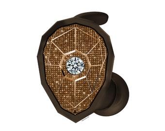 Custom Bronze Airlink Elements Monster Earphones with Swarovski,Bedazzled Earphones with Crystals, Custom earphones, Monster earphones